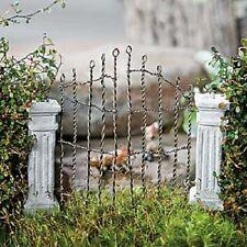 Miniature Fairy  Garden Classic Cement & Wire Gate Estate /Cemetery Gate  40158