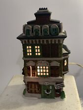 Dept 56 Heritage Dickens Village The Flat of Ebenezer Scrooge #5587-5 w light