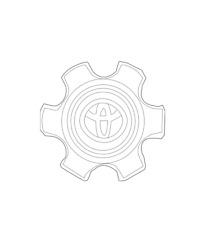 NEW Ornament Sub-Assembly Wheel Center Cap Hub 4260335830 For Toyota 4Runner