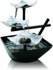 Tabletop Water Fountain Indoor Waterfall Zen Relaxation Tranquil Spring Garden