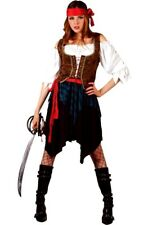 Adult CARIBBEAN PIRATE LADY Fancy Dress Costume Shipwrecked UK Sizes 6-28