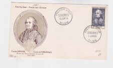 france 1955 Sc B297,michel 1019,vergennes on FDC       o453