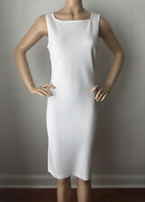 NEW ST JOHN KNIT SIZE 12  BRIGHT WHITE  MILANO KNIT DRESS