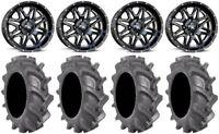 "MSA Black Vibe 14"" UTV Wheels 30"" BKT AT 171 Tires Honda Pioneer 1000 / Talon"