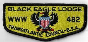 OA Black Eagle Lodge 482 BSA  Flap BLK Bdr. Transatlantic Council [MX-9299]