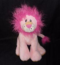 "10"" BABY GANZ PINK RASCAL LION FUZZY MANE STUFFED ANIMAL PLUSH TOY BG2215"