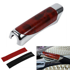 Car Hand Brake Break Protector Protective Decoration Cover Red Wooden Style Hot