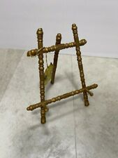 Vintage Gift Gallery Brass Mini Miniature Easel Plate Picture Frame Display