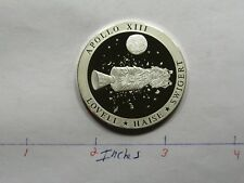 APOLLO 13 SPACE DISASTER MOON MISSION 999 SILVER COIN VERY RARE SHARP