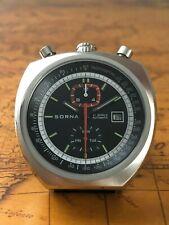 Sorna Tachymetre Bullhead Automatikuhr Retro Watch NOS Style