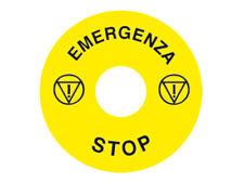 "Etichetta Rotonda ""Emergenza Stop"" Diametro 60mm"