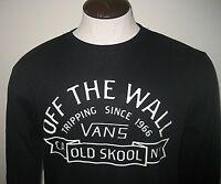 Vans Mens Loring Off The Wall Old Skool Crewneck sweatshirt Black White NWT