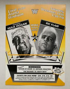"WWF WWE Promo Poster Hulk Hogan v Ric Flair 1991 Championship Match 12"" x 16"""