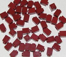 Lego Lot of 50 New Dark Red Bricks 1 x 1 Dot Building Blocks Parts