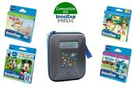 Vtech InnoTAB Max Games & Carry Case Bundle Blue - 4-7 Years (4 Games + 1 Case)