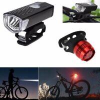 Impermeable Recargable USB LED Bicicleta Faro Delantero y Cola Juego de Luces