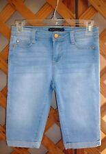 CELEBRITY PINK CAPRIS~Light Blue Shades Denim~Pockets~Stretch~Girls Size 10