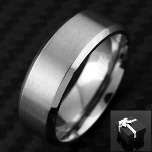 Titanium Men's Brushed Finish Center Stripe Wedding Band Ring Size 9-13