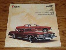 Original 1976 Pontiac Full Line Deluxe Sales Brochure 76 Firebird Grand Prix