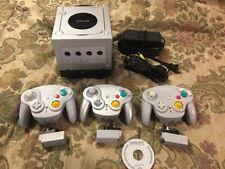 Nintendo Gamecube Console Bundle with 3 Wavebird + 3 Receivers Gb Player W/ Disc