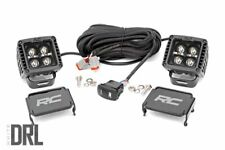 """Rough Country 2"""" Square CREE LED Lights White DRL Pair"""