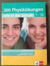200 Physikübungen wie in der Schule 7 - 10 Klett Lerntraining Buch fit in Physik