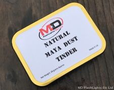 NATURAL MAYA FATWOOD DUST TINDER & STORAGE TIN BUSHCRAFT FIRELIGHTING SURVIVAL