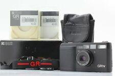 【 BOXED MINT 】 Ricoh GR1v GR1-v BLACK 35mm Film Camera + Hood Filter from JAPAN