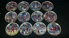 Bradford Exchange Chicago Bulls Michael Jordan collection 12 plate complete set