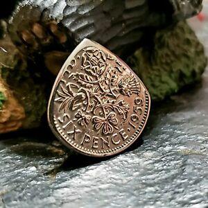 Genuine British Sixpence Coin Guitar Pick