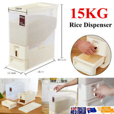 15KG  Rice Smart White Rice Dispenser Container Keeper OZ Free Shipping