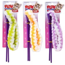 Plush Cat Tickle Play Stick Fluffy Toy Pet Kitten Teaser Activity Feather Puppy