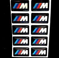 10 PCS M Sport Wheel Badge 3D Emblem Sticker Wheel Decal Fit for BMW
