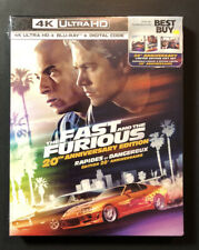 The Fast and The Furious [ 20th Anniversary STEELBOOK Gift Set ] (4K UHD) NEW