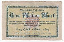 GERMANY WANDSBEKER 1 MILLIONEN MARK 1923 EMERGENCY MONEY NOTGELD LOOK SCANS