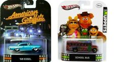 New Hot Wheels 1:64 Scale Models  '58 EDSEL American Graffiti + Muppets Bus
