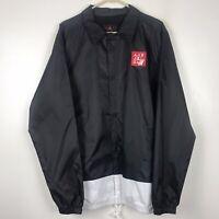 Nike Air Jordan Legacy AJ 4 Coaches Jacket Black CI0253-010 Men's Size L NWT