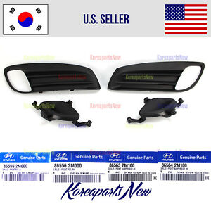 Front Bumper Fog Light Cover Right + Left (4pcs) HYUNDAI GENESIS COUPE 2009-2011