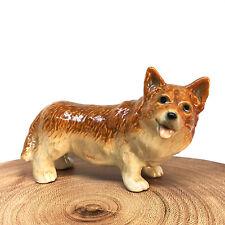 Ceramic Figurine Pembroke Welsh Corgi Dog Statue Standing Miniature Collectibles
