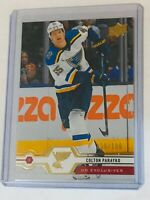 2019-20 UD SERIES 2 UD EXCLUSIVES /100 COLTON PARAYKO 370 BLUES