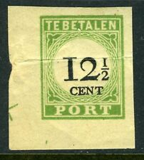 Netherlands Antilles First Postage Due 12½¢ Imperf MNH P125 ⭐⭐⭐⭐⭐⭐