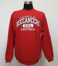 NEW NOS Reebok Tampa Bay Buccaneers Crewneck Sweatshirt Men L Large NFL Red NWT