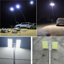 Telescopic COB Rod LED Fishing Outdoor Camping Lantern Light Lamp Hiking BBQ