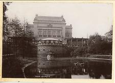 Allemagne, Leipzig, Arrière du Nouveau Théâtre, 1899, vintage citrate print from