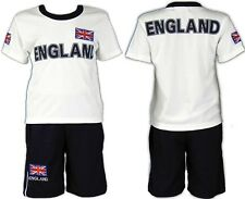 Boys England Shirt Top & Shorts World Cup Soccer Football Kit Kids Clothes 3-14y