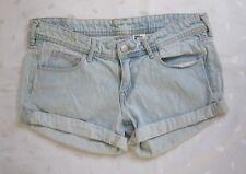 H&M Women's Low Rise Light Wash Jean Cuffed Short Size 38 / W32 ~Worn only Twice