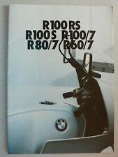 Prospekt BMW R60/7, R80/7, R100/7, R100S/RS 2.1977, 26 Seiten