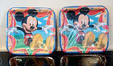 NEW Original Hallmark 16 Mickey Mouse Hallmark Square Paper Plates Party Play