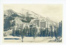 CPR Hotel RPPC Banff Alberta—Rare Antique Canadian Rockies Harmon Photo 1920s