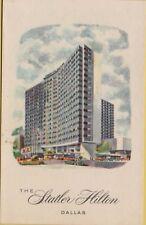 VTG Carte Blanche The Statler Hilton Inn Hotel in Dallas Texas TX Postcard